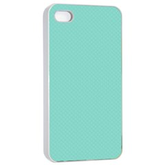 Tiffany Aqua Blue Puffy Quilted Pattern Apple Iphone 4/4s Seamless Case (white) by PodArtist