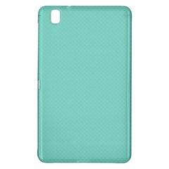 Tiffany Aqua Blue Puffy Quilted Pattern Samsung Galaxy Tab Pro 8 4 Hardshell Case by PodArtist