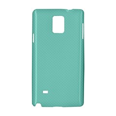 Tiffany Aqua Blue Puffy Quilted Pattern Samsung Galaxy Note 4 Hardshell Case by PodArtist