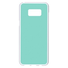 Tiffany Aqua Blue Puffy Quilted Pattern Samsung Galaxy S8 Plus White Seamless Case by PodArtist