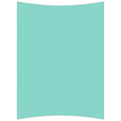 Tiffany Aqua Blue Puffy Quilted Pattern Back Support Cushion by PodArtist