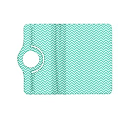 Tiffany Aqua Blue Chevron Zig Zag Kindle Fire Hd (2013) Flip 360 Case by PodArtist