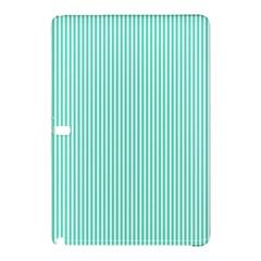Classy Tiffany Aqua Blue Sailor Stripes Samsung Galaxy Tab Pro 10 1 Hardshell Case by PodArtist