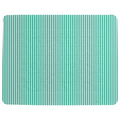 Classy Tiffany Aqua Blue Sailor Stripes Jigsaw Puzzle Photo Stand (rectangular) by PodArtist