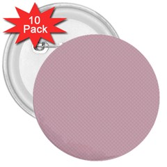 Baby Pink Stitched And Quilted Pattern 3  Buttons (10 Pack)  by PodArtist