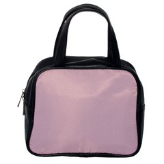 Baby Pink Stitched And Quilted Pattern Classic Handbags (one Side) by PodArtist