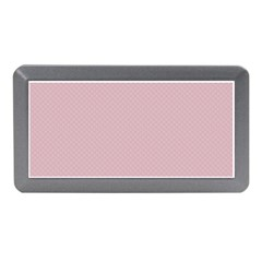 Baby Pink Stitched And Quilted Pattern Memory Card Reader (mini) by PodArtist