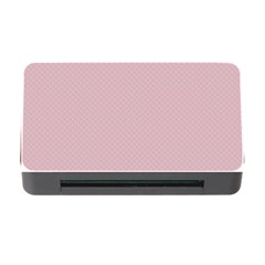 Baby Pink Stitched And Quilted Pattern Memory Card Reader With Cf by PodArtist
