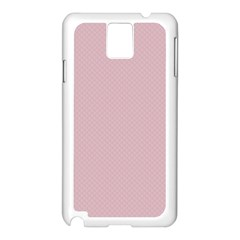 Baby Pink Stitched And Quilted Pattern Samsung Galaxy Note 3 N9005 Case (white) by PodArtist