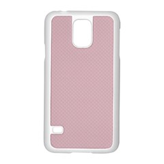 Baby Pink Stitched And Quilted Pattern Samsung Galaxy S5 Case (white) by PodArtist
