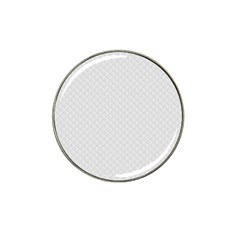 Bright White Stitched And Quilted Pattern Hat Clip Ball Marker (10 Pack) by PodArtist