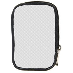 Bright White Stitched And Quilted Pattern Compact Camera Cases by PodArtist