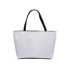 Bright White Stitched And Quilted Pattern Shoulder Handbags by PodArtist