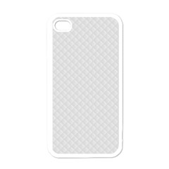 Bright White Stitched And Quilted Pattern Apple Iphone 4 Case (white) by PodArtist