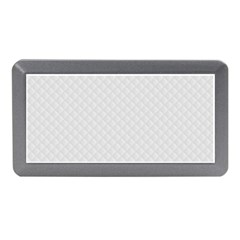 Bright White Stitched And Quilted Pattern Memory Card Reader (mini) by PodArtist