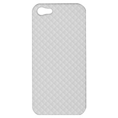 Bright White Stitched And Quilted Pattern Apple Iphone 5 Hardshell Case by PodArtist