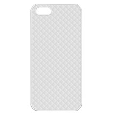 Bright White Stitched And Quilted Pattern Apple Iphone 5 Seamless Case (white) by PodArtist