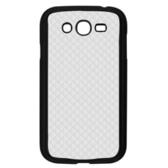 Bright White Stitched And Quilted Pattern Samsung Galaxy Grand Duos I9082 Case (black) by PodArtist