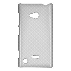 Bright White Stitched And Quilted Pattern Nokia Lumia 720 by PodArtist