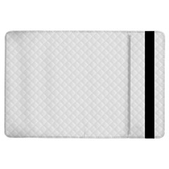 Bright White Stitched And Quilted Pattern Ipad Air Flip by PodArtist
