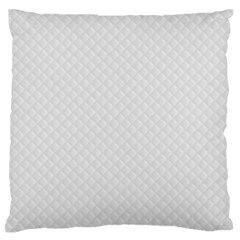 Bright White Stitched And Quilted Pattern Standard Flano Cushion Case (one Side) by PodArtist