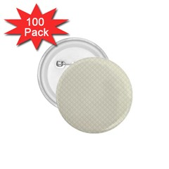 Rich Cream Stitched And Quilted Pattern 1 75  Buttons (100 Pack)  by PodArtist