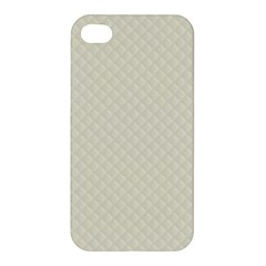 Rich Cream Stitched And Quilted Pattern Apple Iphone 4/4s Hardshell Case by PodArtist