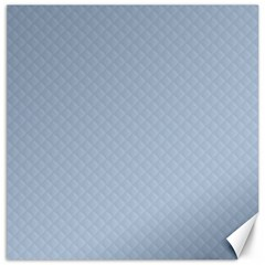 Powder Blue Stitched And Quilted Pattern Canvas 12  X 12   by PodArtist