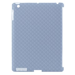 Powder Blue Stitched And Quilted Pattern Apple Ipad 3/4 Hardshell Case (compatible With Smart Cover) by PodArtist