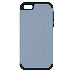 Powder Blue Stitched And Quilted Pattern Apple Iphone 5 Hardshell Case (pc+silicone) by PodArtist