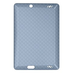 Powder Blue Stitched And Quilted Pattern Amazon Kindle Fire Hd (2013) Hardshell Case by PodArtist
