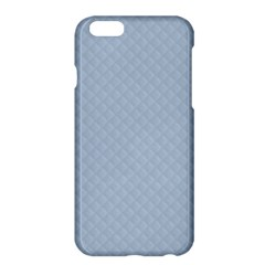 Powder Blue Stitched And Quilted Pattern Apple Iphone 6 Plus/6s Plus Hardshell Case by PodArtist