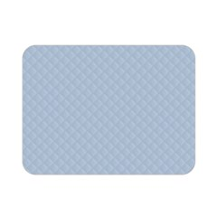 Powder Blue Stitched And Quilted Pattern Double Sided Flano Blanket (mini)  by PodArtist