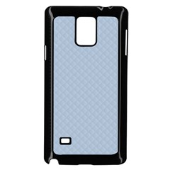 Powder Blue Stitched And Quilted Pattern Samsung Galaxy Note 4 Case (black) by PodArtist