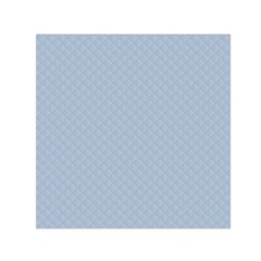 Powder Blue Stitched And Quilted Pattern Small Satin Scarf (square) by PodArtist