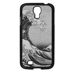 Black And White Japanese Great Wave Off Kanagawa By Hokusai Samsung Galaxy S4 I9500/ I9505 Case (black) by PodArtist