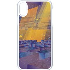 Up Down City Apple Iphone X Seamless Case (white)