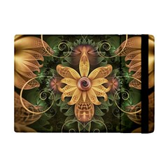 Beautiful Filigree Oxidized Copper Fractal Orchid Ipad Mini 2 Flip Cases by jayaprime