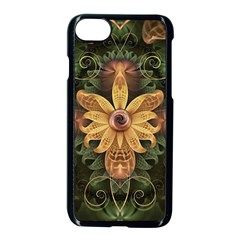 Beautiful Filigree Oxidized Copper Fractal Orchid Apple Iphone 8 Seamless Case (black) by beautifulfractals