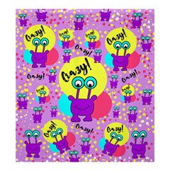 Crazy Shower Curtain 66  X 72  (large)  by gasi