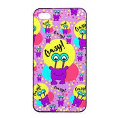 Crazy Apple Iphone 4/4s Seamless Case (black) by gasi