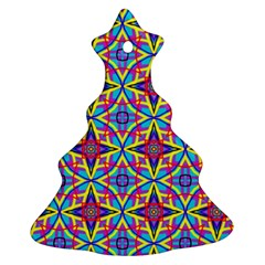 Pattern Christmas Tree Ornament (two Sides) by gasi
