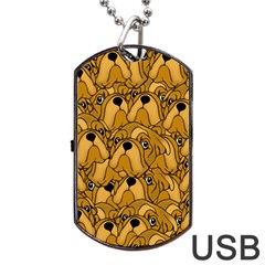 Bulldogge Dog Tag Usb Flash (two Sides) by gasi
