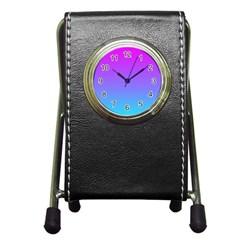 Pattern Pen Holder Desk Clocks by gasi