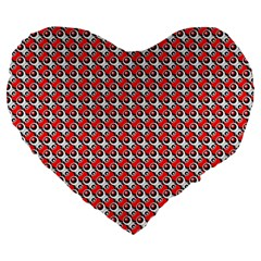 Pattern Large 19  Premium Heart Shape Cushions by gasi