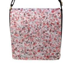 Pattern Flap Messenger Bag (l)  by gasi