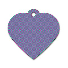Pattern Dog Tag Heart (one Side) by gasi
