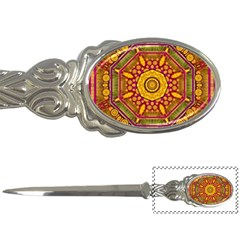 Sunshine Mandala And Other Golden Planets Letter Openers by pepitasart