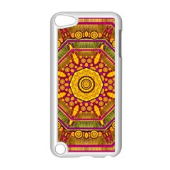 Sunshine Mandala And Other Golden Planets Apple Ipod Touch 5 Case (white) by pepitasart