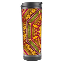 Sunshine Mandala And Other Golden Planets Travel Tumbler by pepitasart